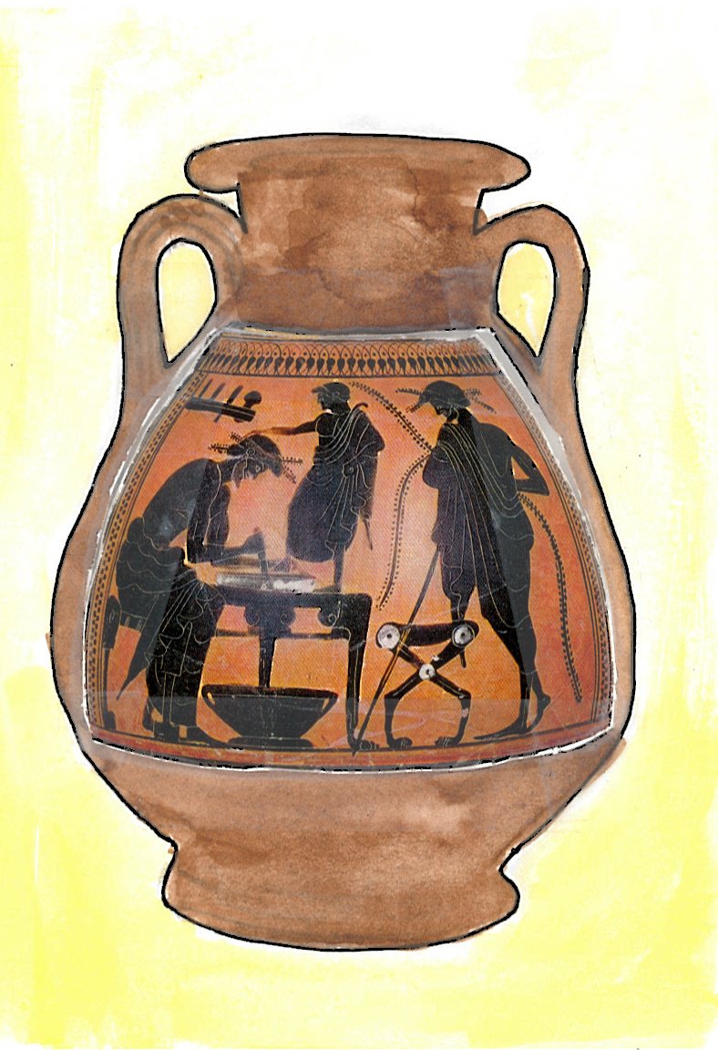 003a - Attic black figure pelike from Rhodes