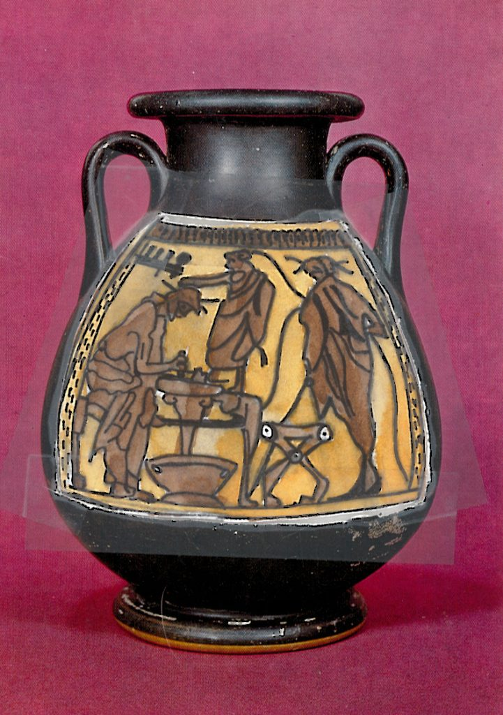 003b - Attic black figure pelike from Rhodes