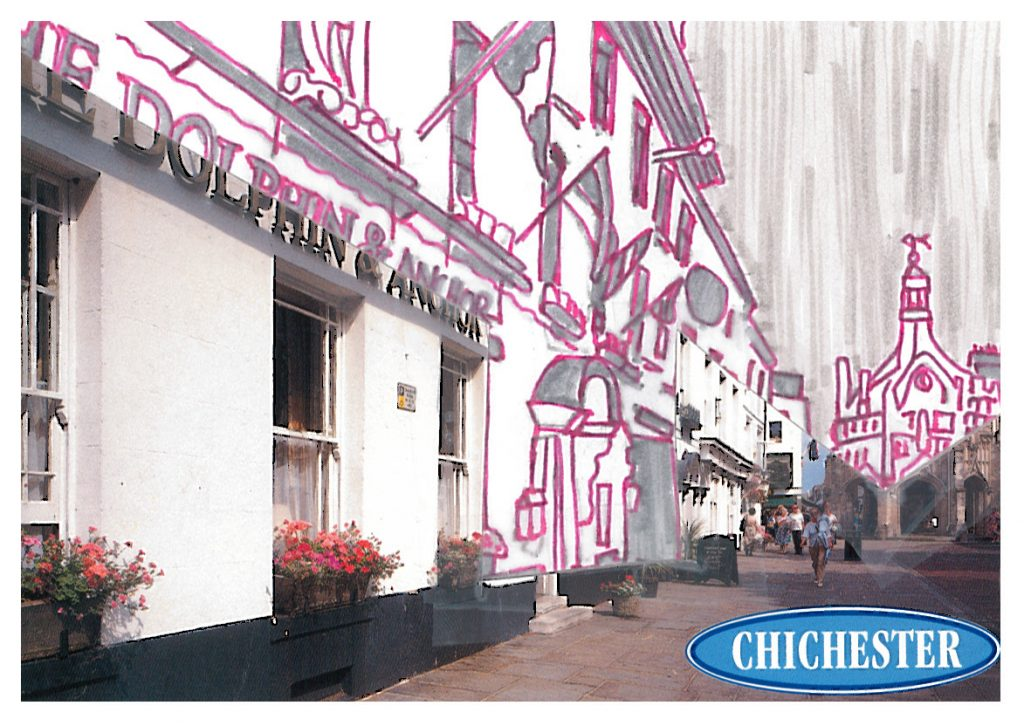 010a - Chichester in glowing pink monochrome