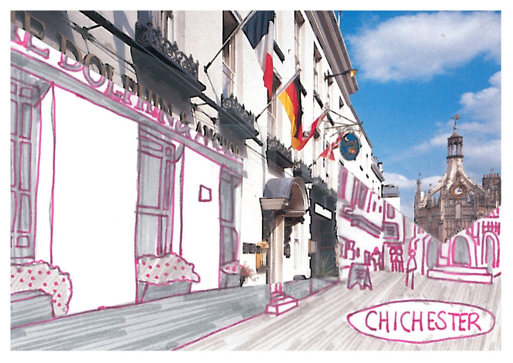 010b - Chichester in glowing pink monochrome