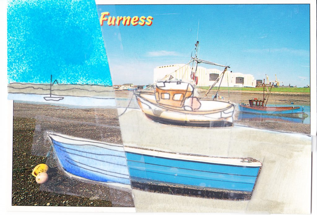 031b - View across Walney Channel Barrow in Furness Cumbria