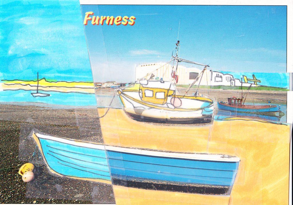 032b - View across Walney Channel Barrow in Furness Cumbria