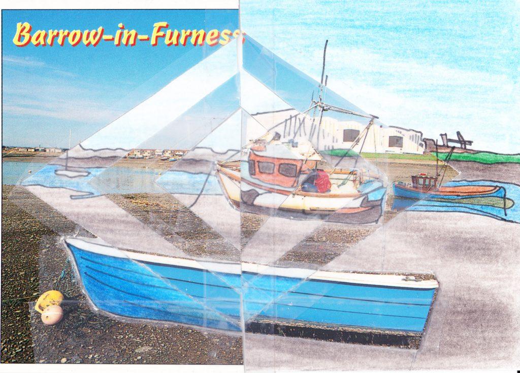 034b - View across Walney Channel Barrow in Furness Cumbria