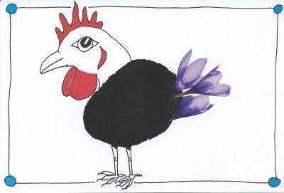 65_365.3 ink-blot chicken wih flowery tail