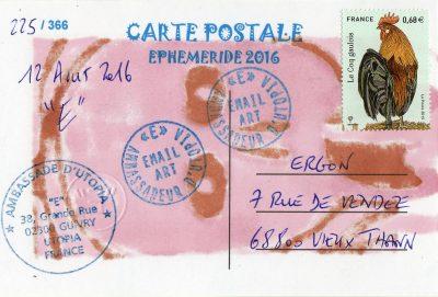 EPHEMERIDE 225-B  12 AOUT 2016